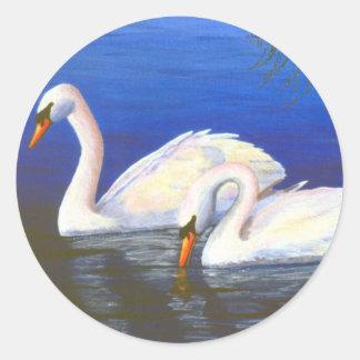 Swan Reflections Sticker