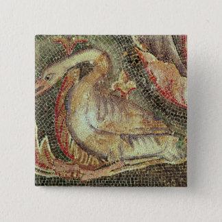 Swan, restored c.1200 15 cm square badge