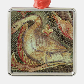 Swan, restored c.1200 Silver-Colored square decoration