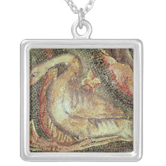 Swan, restored c.1200 silver plated necklace