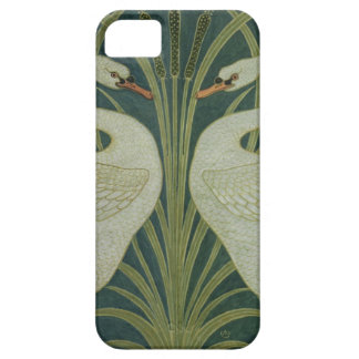 'Swan, Rush and Iris' wallpaper design iPhone 5 Cover
