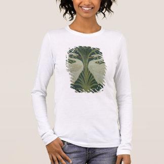 'Swan, Rush and Iris' wallpaper design Long Sleeve T-Shirt