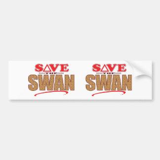 Swan Save Bumper Sticker