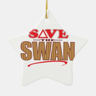 Swan Save Christmas Ornament