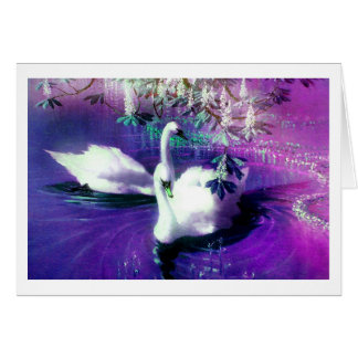 SWAN SPIRITS GREETING CARD