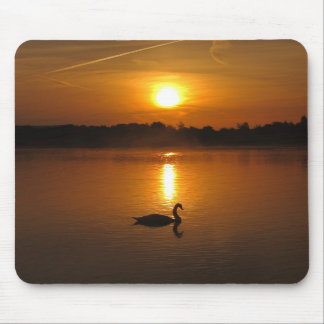 Swan sunset mousepad