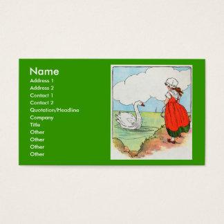 Swan, swan, over the sea.  Swim, swan, swim! Business Card