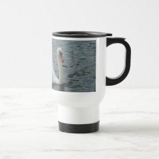 Swan Swimming Stainless Steel Travel Mug