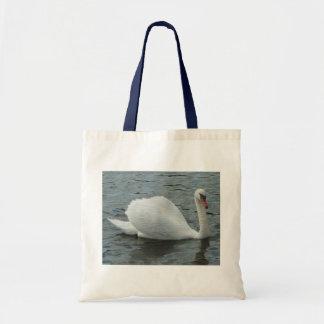 Swan swimming budget tote bag