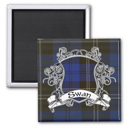 Swan Tartan Shield Magnet