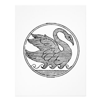 Swan vintage jagged sketch png custom flyer