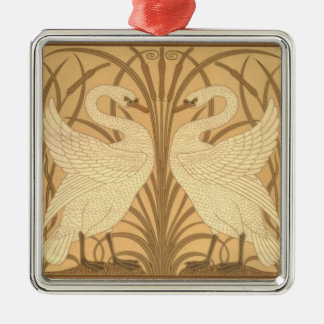 Swan wallpaper design christmas ornament