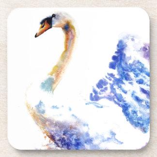 swan wtaercolour coaster