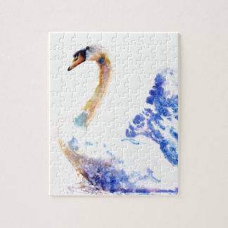 swan wtaercolour jigsaw puzzle