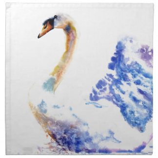 swan wtaercolour napkin