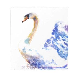 swan wtaercolour notepad