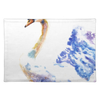 swan wtaercolour placemat