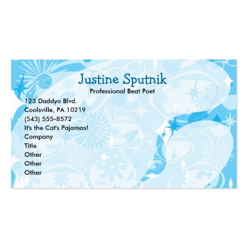 Swanky Blue Business Card