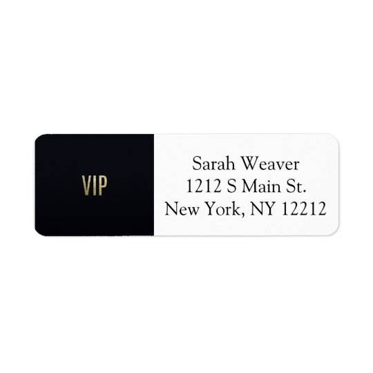 """Swanky Faux Gold Leaf Foil """"VIP"""" Typography"""