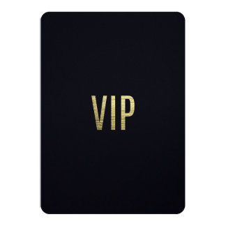 "Swanky Faux Gold Leaf Foil ""VIP"" Typography Card"