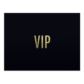 "Swanky Faux Gold Leaf Foil ""VIP"" Typography Postcard"
