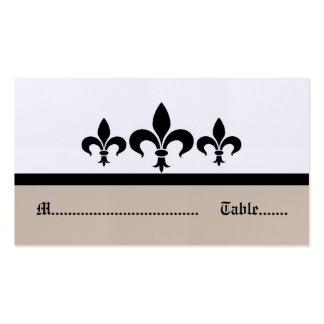Swanky Fleur De Lis Place Card, Beige Pack Of Standard Business Cards