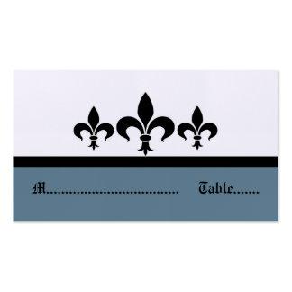 Swanky Fleur De Lis Place Card, Blue Pack Of Standard Business Cards