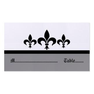 Swanky Fleur De Lis Place Card, Gray Pack Of Standard Business Cards