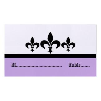 Swanky Fleur De Lis Place Card, Lilac Pack Of Standard Business Cards