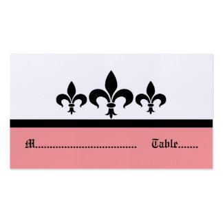 Swanky Fleur De Lis Place Card, Pink Pack Of Standard Business Cards
