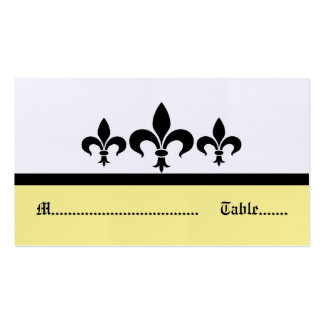 Swanky Fleur De Lis Place Card, Yellow Pack Of Standard Business Cards
