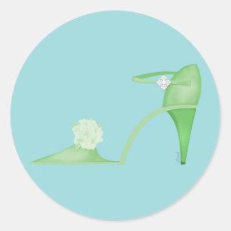 Swanky Green Shoe Sticker