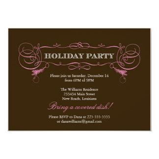 Swanky Holiday Party 13 Cm X 18 Cm Invitation Card