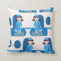 Swanky Jet Set Stewardess Cushion