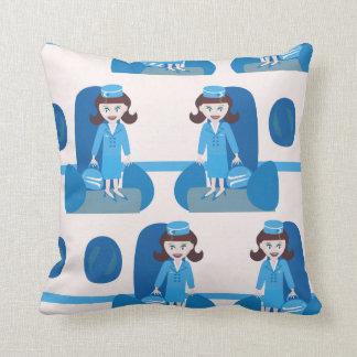 Swanky Jet Set Stewardess Cushion