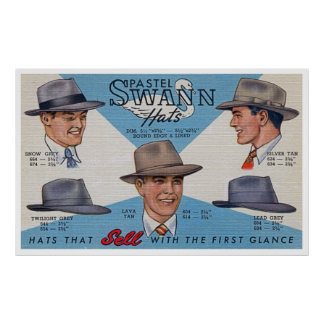 Swann Hats! Poster