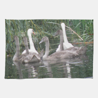 Swans and Cygnets Kitchen Towel