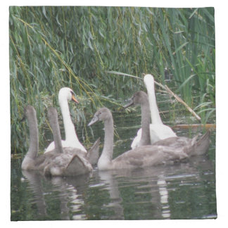 Swans and Cygnets Napkin