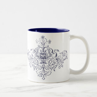 Swans and Scrolls Two-Tone Mug