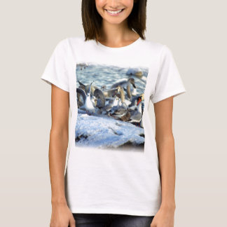 Swans and Seagulls in Winter T-Shirt
