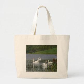 Swans Animal Large Tote Bag