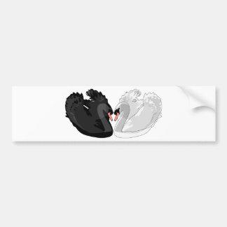 swans bumper sticker