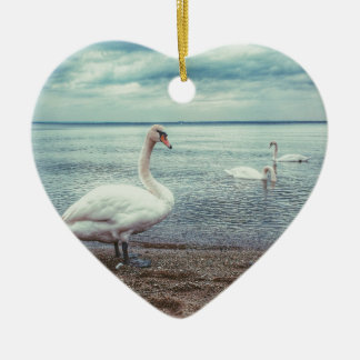 Swans Christmas Ornament