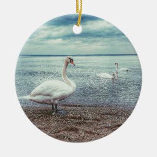 Swans Christmas Ornament