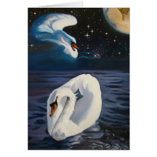 Swans Constellation Greeting Card