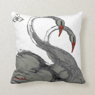 swans cushion