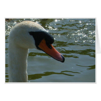 Swan's Head Greeting Card