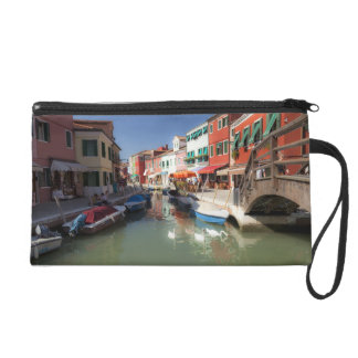 Swans in canal, Burano Island, Venice, Italy 2 Wristlets