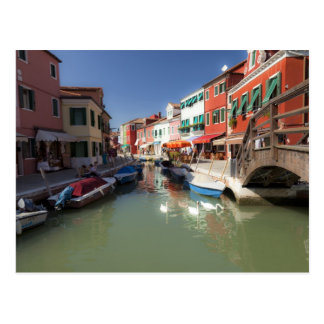 Swans in canal, Burano Island, Venice, Italy 2 Postcard