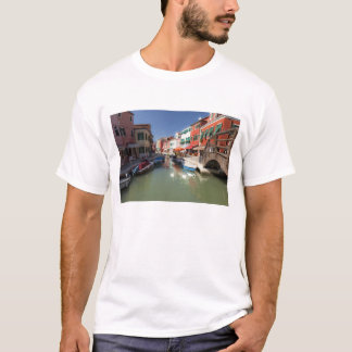 Swans in canal, Burano Island, Venice, Italy 2 T-Shirt